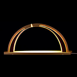 Candle Arch - modern wood - without Figurines - 57x26 cm / 22.4x10.2 inch