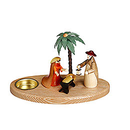 Candle Holder - Nativity Scene - 12 cm / 5 inch