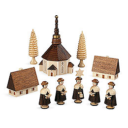 Carolers Church of Seiffener - 12 cm / 5 inch