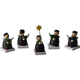 Carolers Set of Five - 3,5 cm / 1.3 inch