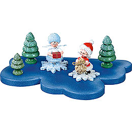 Cloud for Snowflake 1 Floor Small - 18x11 cm / 7x4.3 inch