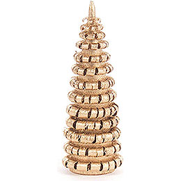 Coiled Tree without Trunk - Golden - 6 cm / 2.4 inch