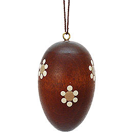 Easter Ornament - Egg Natural Dark - 3 cm / 1.2 inch