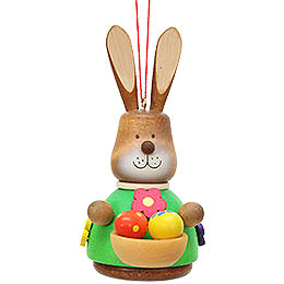 Easter Ornament - Teeter Bunny with Egg-Basket - 9,8 cm / 3.9 inch