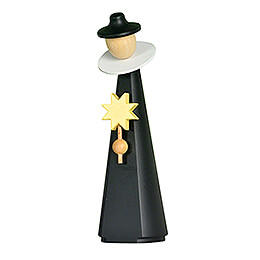 Figurine Caroler with star - 11 cm / 4.3 inch