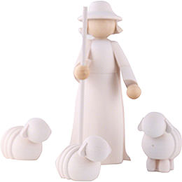 Figurines Shepherd with Sheeps - 11cm/4 inch