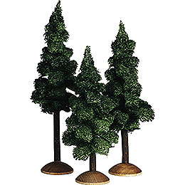Fir Tree with Trunk, Set of Three - 17 cm / 6.7 inch