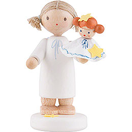 Flax Haired Angel with Kathrinchen - 5 cm / 2 inch
