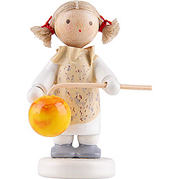Flax Haired Children Little Girl with Lampion - Edition Flade & Friends - 5 cm / 2 inch