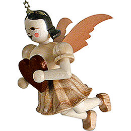 Floating Angel Heart, Natural - 6,6 cm / 2.6 inch