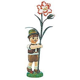 Flower Child Boy with Carnation - 11 cm / 4,3 inch
