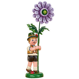 Flower Child Boy with Dahlia - 11 cm / 4.3 inch