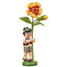 Flower Child Boy with Tagetes - 11 cm / 4,3 inch