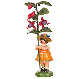 Flower Child Girl with Fuchsia - 17 cm / 7 inch