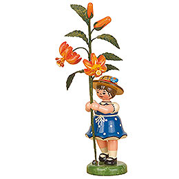 Flower Child Girl with Lily - 17 cm / 7 inch