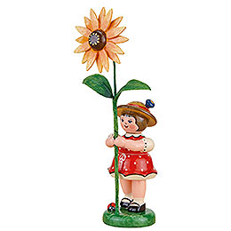 Flower Child Girl with Sun Hat - 11 cm / 4.3 inch
