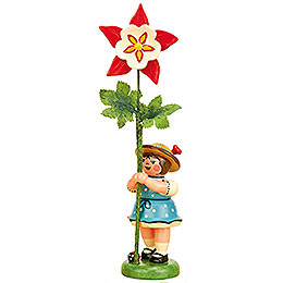 Flower Girl with Columbine - 11 cm / 4,3 inch