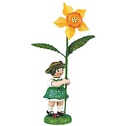 Flower Girl with Daffodil - 11 cm / 4,3 inch