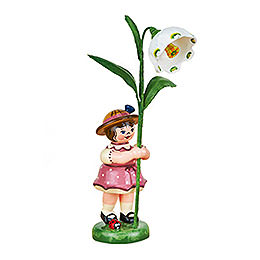 Flower Girl with Daffodils of March - 11 cm / 4,3 inch