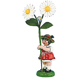 Flower Girl with Daisies - 11 cm / 4,3 inch