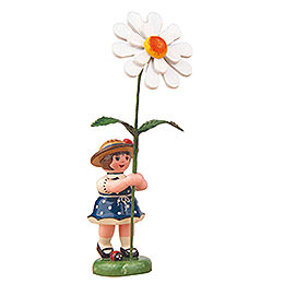 Flower Girl with Daisy - 11 cm / 4,3 inch
