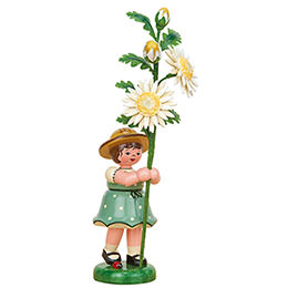 Flower Girl with Edelweiss Daisy - 17 cm / 6.7 inch