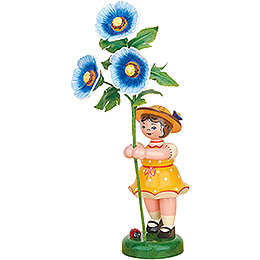 Flower Girl with Hollyhock - 24 cm / 9.4 inch