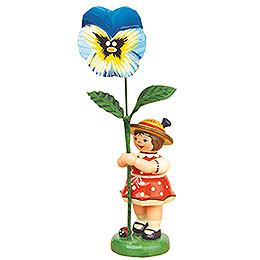 Flower Girl with Pansy - 11 cm / 4,3 inch
