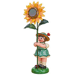 Flower Girl with Sunflower - 11 cm / 4,3 inch
