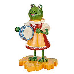 Frog Girl with Tambourine - 8 cm / 3 inch