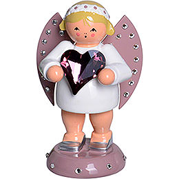 Good Luck Angel with SWAROVSKI-Heart and Candle Holder - 8 cm / 3.1 inch