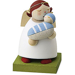 Guardian Angel with Baby - Boy - 3,5 cm / 1.3 inch