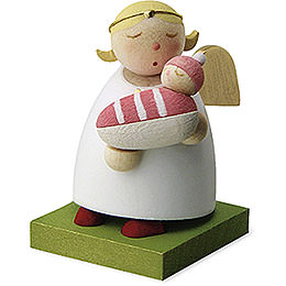Guardian Angel with Baby - Girl - 3,5 cm / 1.3 inch