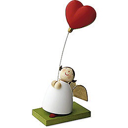 Guardian Angel with Balloon Heart - 3,5 cm / 1.3 inch