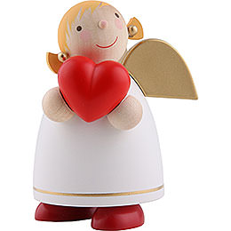 Guardian Angel with Heart, Weiss - 8 cm / 3.1 inch