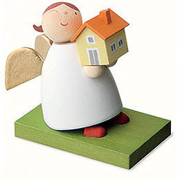 Guardian Angel with House - 3,5 cm / 1.3 inch