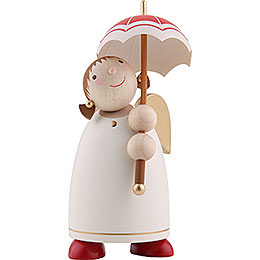 Guardian Angel with Umbrella, Beige - 8 cm / 3.1 inch