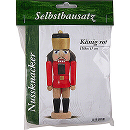 Handicraft Set - Nutcracker - King Red - 15 cm / 5.9 inch
