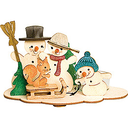 Handicraft Set - Tea Light Holder - Snowman - 10,5 cm / 4.1 inch