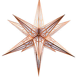 Hartenstein Christmas Star for Inside Use - White with Copper - 68 cm / 27 inch