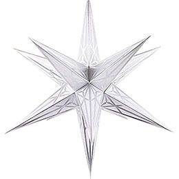 Hartenstein Christmas Star for Inside Use - White with Silver - 68 cm / 27 inch