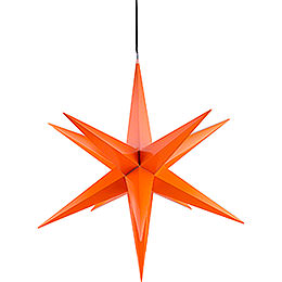 Hasslau Christmas Star - Orange and Lighting - 75 cm / 30 inch -  Inside/Outside Use
