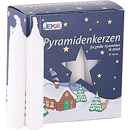 High Quality Pyramid-Candles White - D=1.7 cm (0.66 Inch)
