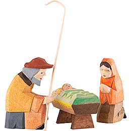 Holy Family, Set of Three - 8 cm / 3.1 inch