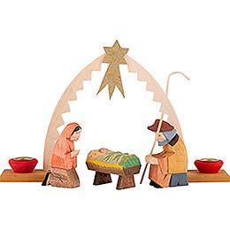 Holy Family with Arch, Set of Four - 9,5 cm / 3.7 inch
