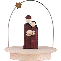 Holy Family with Star Arch - colored - 8,5 cm / 3.3 inch