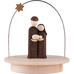 Holy Family with Star Arch - natural - 8,5 cm / 3.3 inch