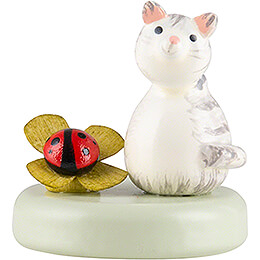 Kitten and Lady Bug - 2,2 cm / 0.9 inch