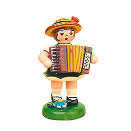 Lampion Girl with Accordion - 8 cm / 3 inch
