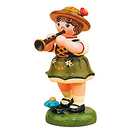 Lampion Girl with Clarinet - 8 cm / 3 inch
